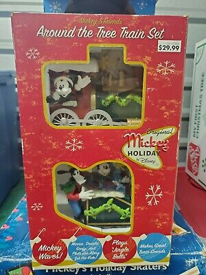DISNEY MICKEY AND FRIENDS AROUND THE TREE TRAIN SET Christmas Holiday Music