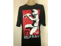New KAKASHI *Raikiri Anbu Sharingan Anime Cartoon Men/'s Black T-Shirt Size S-3XL