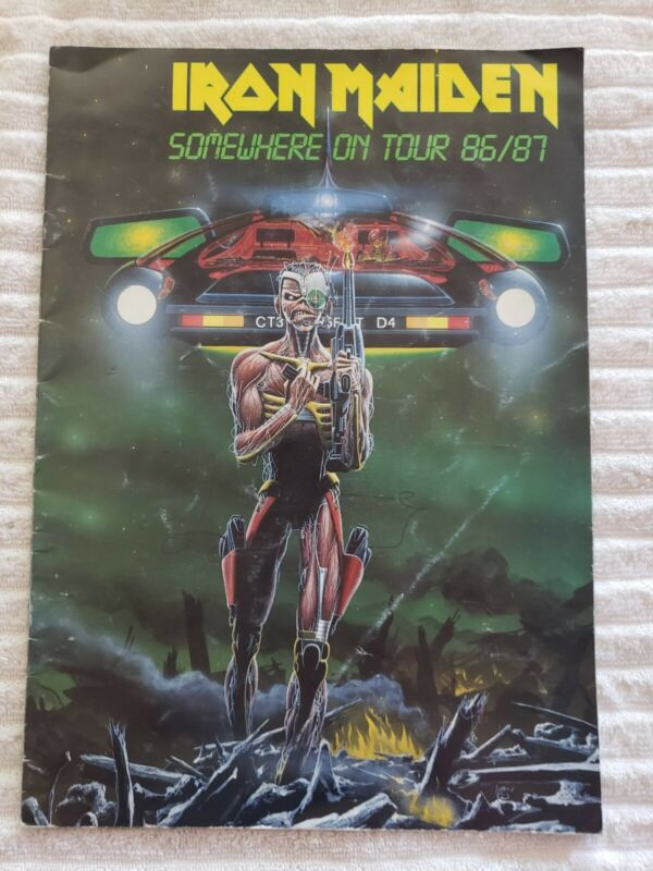 Iron Maiden Somewhere in time Concert booklet. Original 1986 Concert buy