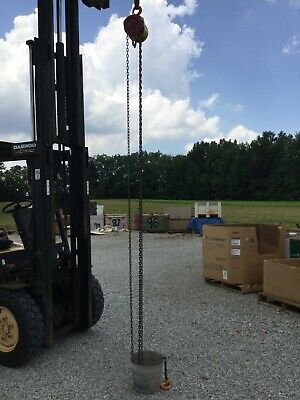 Harrington 1 Ton Chain Hoist 20 Ft. Lift Cf010-20