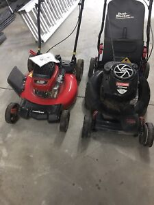 Two push mowers for sale