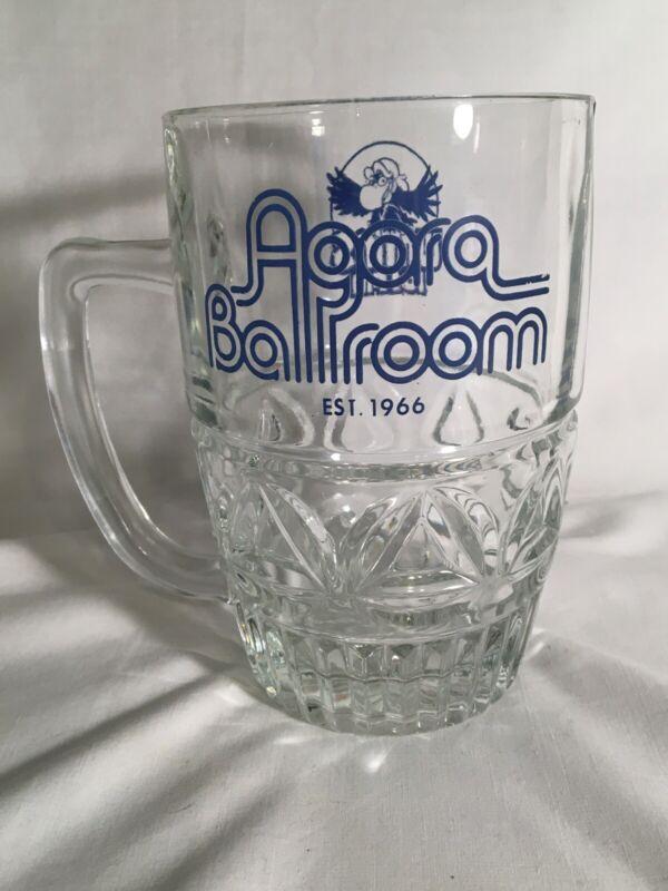 RARE VTG 1970s Agora Ballroom WMMS 100.7 101 Glass Mug Cleveland OH Buzzard