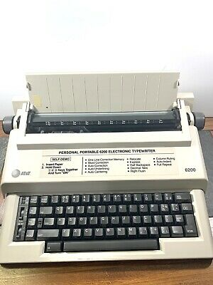 Att Electric Typewriter 6200 Vintage Off-white W 2 New Ribbons - Tested