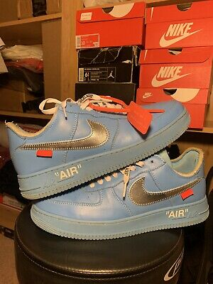Nike Air Force 1 Low Blue 'Off White MCA University Blue' 11.5 CUSTOM AF1