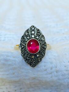 Stunning women's diamond and ruby vintage antique ring valuation Mona Vale Pittwater Area Preview
