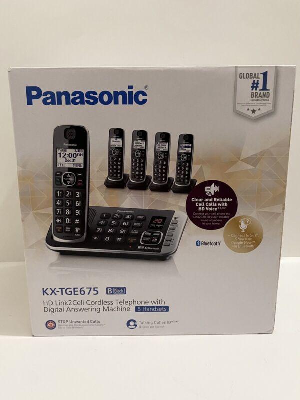 Panasonic Cordless Telephone Digital Answering Machine KX-TGE675 HD Link2Cell