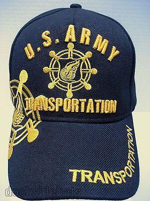 U.S. ARMY TRANSPORTATION VETERAN Cap/Hat New Black Military Free Shipping