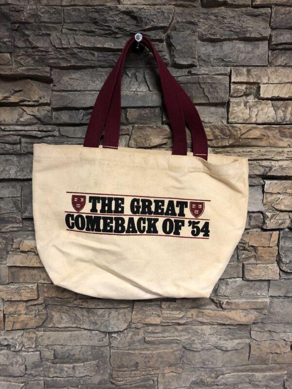 Lucys Canvas Vintage Tote Bag Harvard U Cambridge Comeback Of '54 Durable