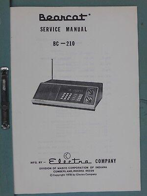 SERVICE MANUAL FOR BEARCAT BC-210