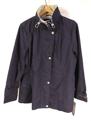Weather Tamer Zip Front Jacket (NWT Weather Tamer Women's Zip Front Jacket With Hood Navy Blue XL )