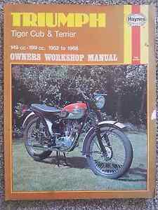 Triumph Tiger Cub & Terrier Owners Workshop Manual Maryland Newcastle Area Preview