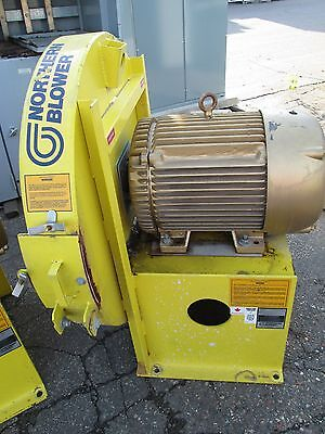 Northern Blower Centrifugal Fan 40-2725 Baldor Motor 40hp 3540rpm 230460v Used