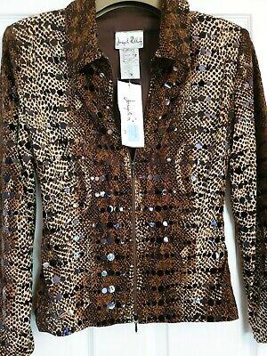 Joseph ribkoff jackets size 12 animal print
