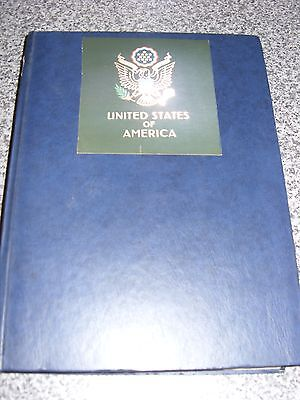 USA EARLY USED STAMPS IN A 32 PAGE  ALBUM VERY NICE APPROX 1150 STAMPS