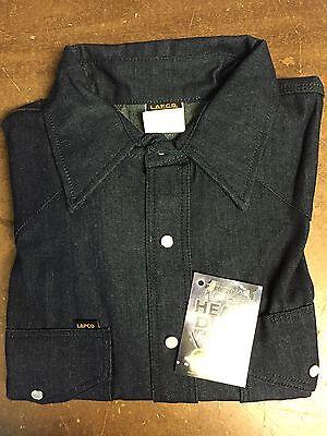 Lapco Blue Denim 10oz Work Shirt 18 X 35 Xl
