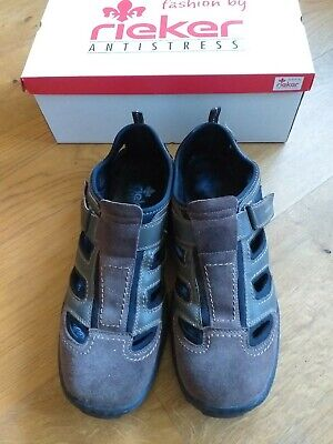 Rieker Herrenschuhe/Sandalette Sandale Sneaker Leder - Gr.46  braun- !!!!