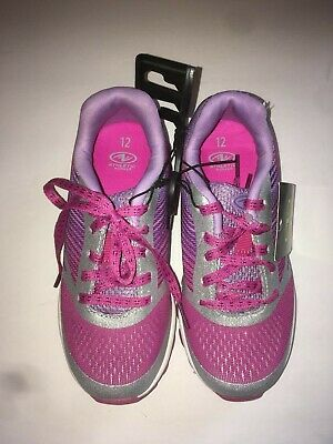 Athletic Works Girls Pink And Silver Athletic Lace Up Shoes Size 12 OR 5 ()