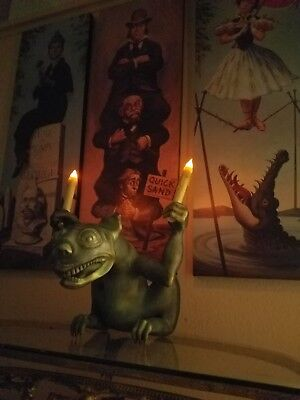 HUGE Haunted Mansion stretching room GARGOYLE Disneyland Halloween Disney - Disneyland Haunted Mansion Halloween