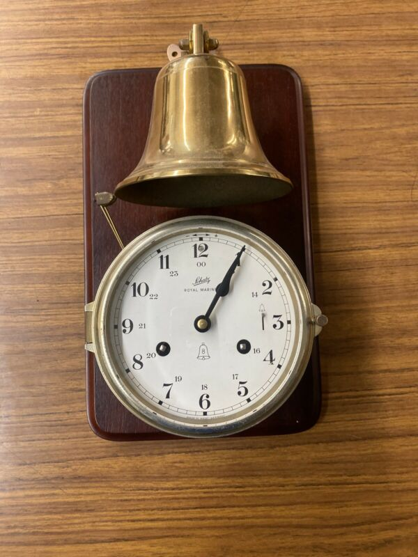 RARE Schatz Royal Mariner Ships Clock and Bell-Works!!