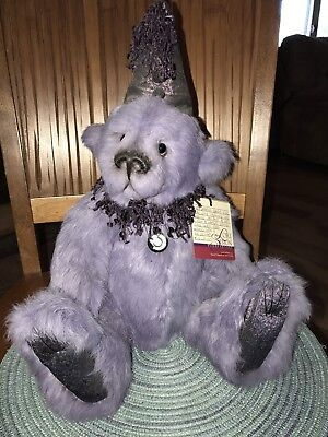 OOAK Lori Simon rabbit fur bear in lilac.