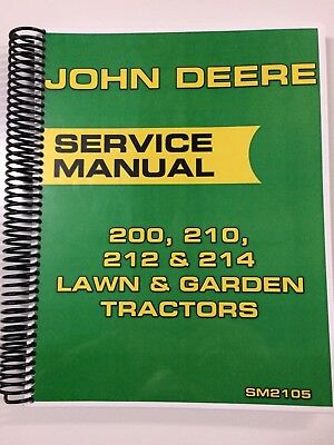 John Deere 200 210 212 214 Lawn Garden Tractor Service Manual Shop Manual