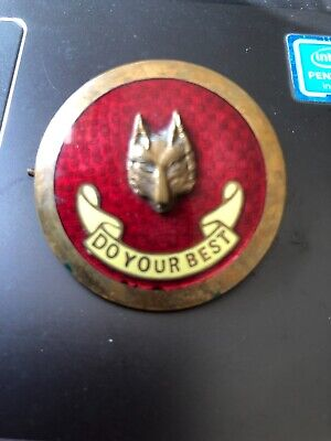 BOY SCOUT WOLF cubs CLUBMASTER hat BADGE - DO YOUR BEST red LONDON