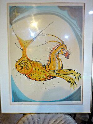 Salvador Dali Original Hand Signed Limited Numbered Lithograph CAPRICORN Zodiac