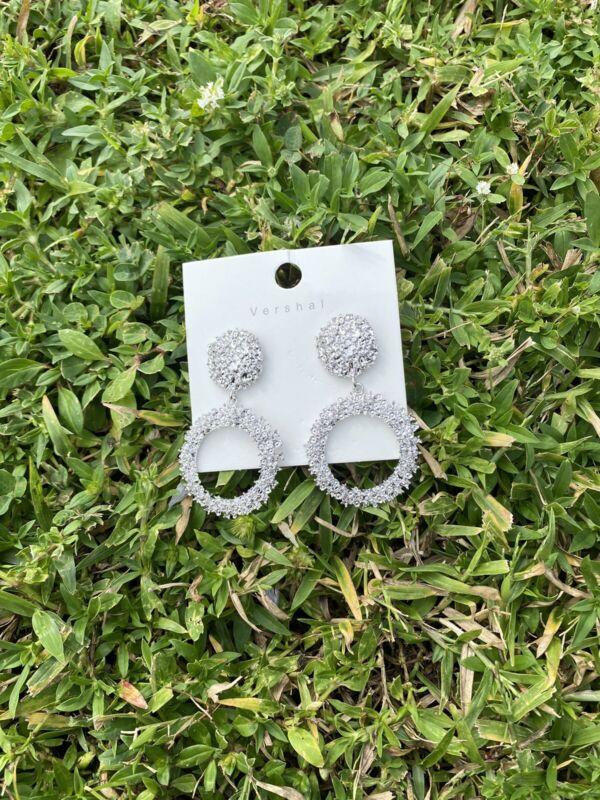 Vintage Fancy Earrings Silver Hanging