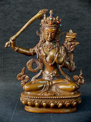 Manjushri-statue (Manjushri Statue Tibet Buddha d. Weisheit Meditation Himalaya Indien TOP QUALITY)