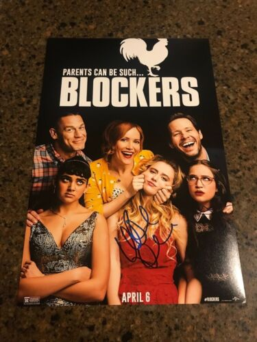 * LESLIE MANN & GIDEON ADLON * signed 12x18 photo poster * BLOCKERS * 2
