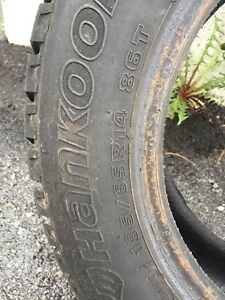 1 x Hankook tire winter 185/65/14