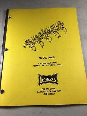 Landoll 2000b Cultivator Operators Owners Parts Manual