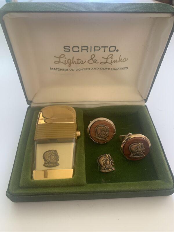 Vintage Scripto VU Lighter Links & Pin Complete Set new