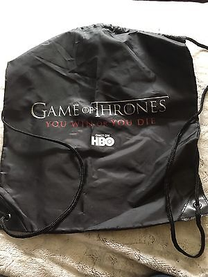 Game of Thrones Draw String Bag You Win or You Die San Diego Comic Con Loot