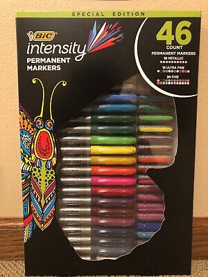 Bic Intensity Fashion Permanent Markers Fine Point Assorted Colors 46-count