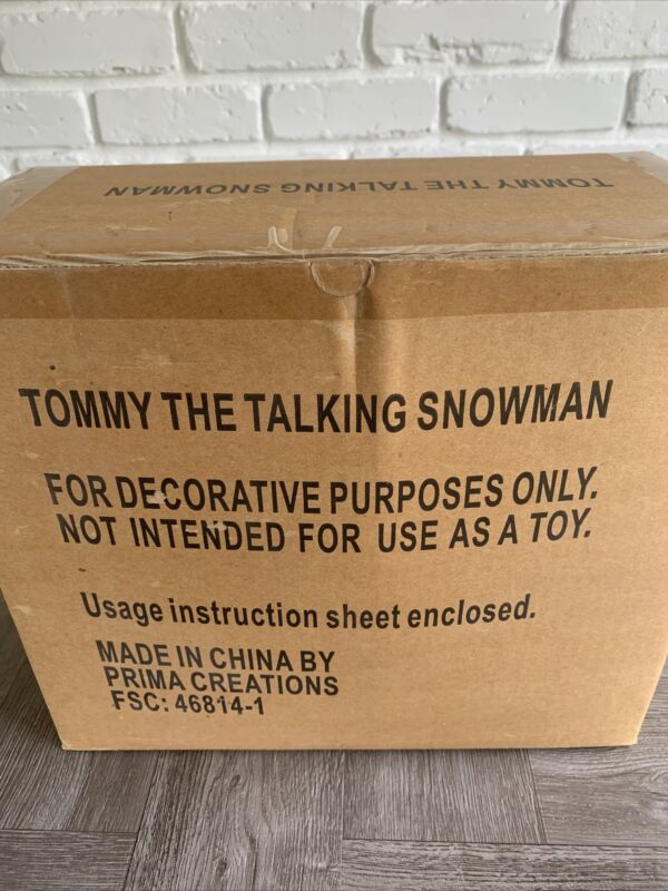 Vintage 2000 Tommy The Talking Snowman Door Greater Prima Creations AVON NEW