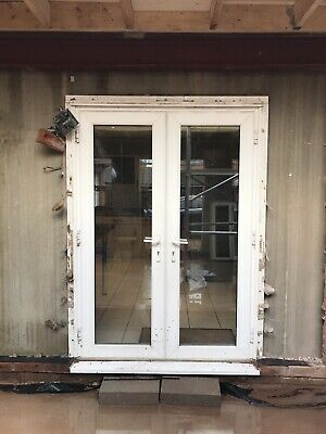 1 Set Of uPVC patio french doors used