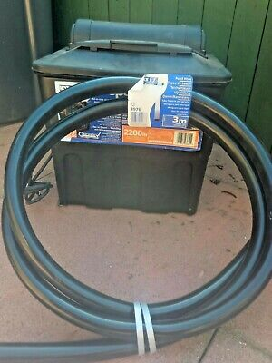 Hozelock Ecopower 2200 UVC Combi Fish Pond Filter Water Clarifier +3m Hose