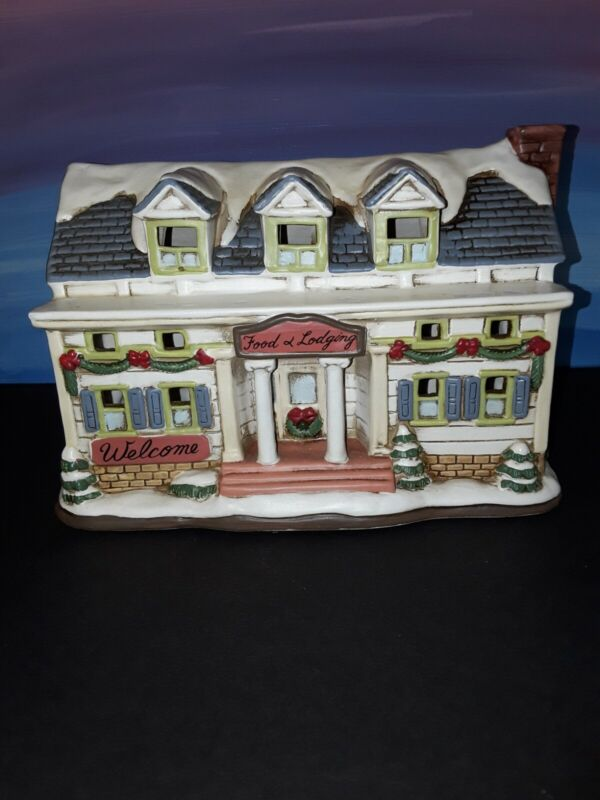 Lefton Christmas Colonial Village Food And Lodging Inn