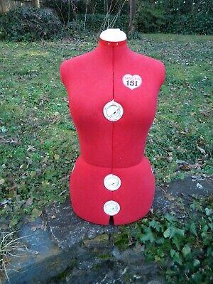 Singer Model 151 Adjustable Red Dress Form Mannequin