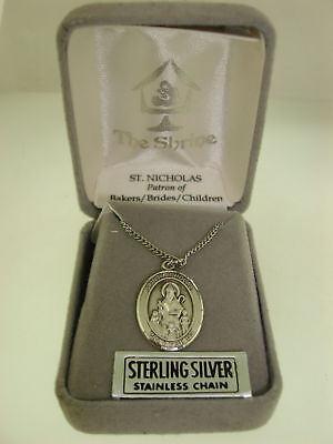 Solid 925 Sterling Silver Oval Pendant Antiqued Miraculous Medal 42mm x 25mm