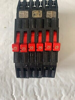 Zinsco Sylvania Challenger Rc-38 Tandem Breaker 20 Amp 2-pole Thin Rc38-20