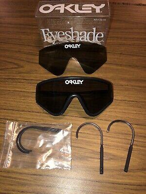 Vintage Oakley Sunglasses Factory Pilot Eyeshade Black Razor Blades With Extras