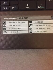 Selling acer laptop