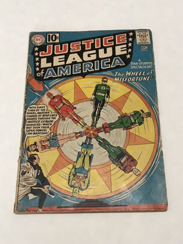 Justice League of America #6 DC Comic Book Silver Age Wheel Of Misfortune