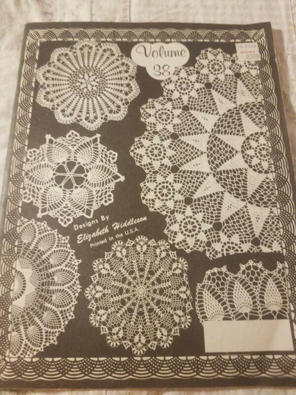 Vintage Crochet Elizabeth Hiddleson Crochet Pattern Book Vol. 38 Doilies Designs