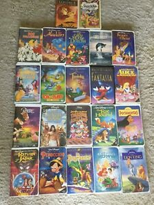 A lot of 22 VHS Disney movies