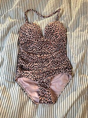 NEW VICTORIA'S SECRET THE ANGEL PADDED PUSH-UP ONE PIECE ANIMAL SWIMSUIT 32B