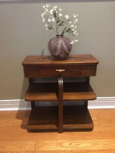 Antique Art Deco Console Table / Cabinet- w/ Drawer