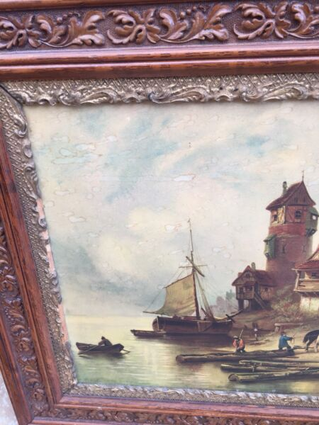 Antique picture/frame solid wood very old Free Delivery ...